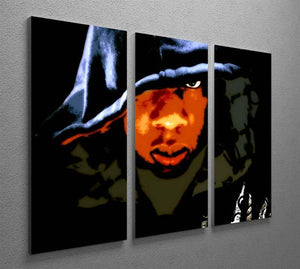 Jay Z 3 Split Panel Canvas Print - Canvas Art Rocks - 2