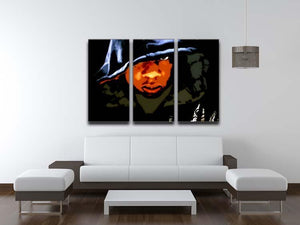 Jay Z 3 Split Panel Canvas Print - Canvas Art Rocks - 3