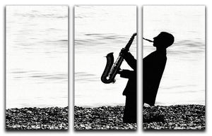 Jazz on the beach 3 Split Panel Canvas Print - Canvas Art Rocks - 1