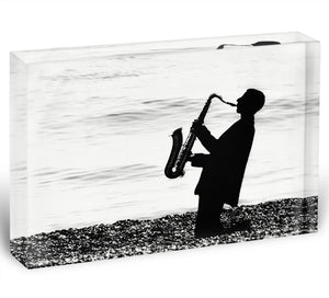 Jazz on the beach Acrylic Block - Canvas Art Rocks - 1