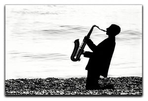 Jazz on the beach Canvas Print or Poster - Canvas Art Rocks - 1