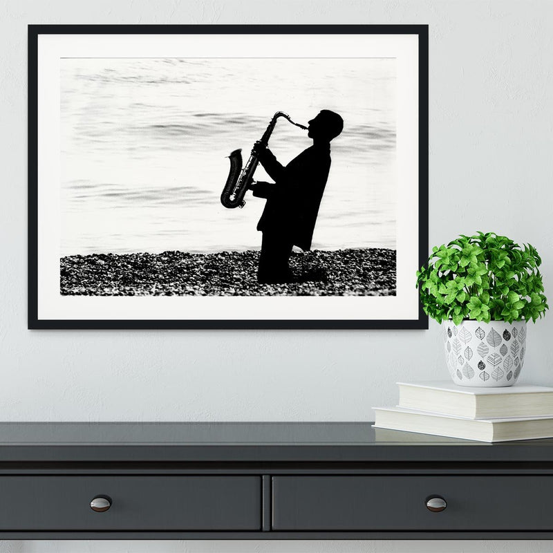 Jazz on the beach Framed Print - Canvas Art Rocks - 1