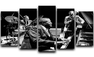Jazz pianist Oscar Peterson 5 Split Panel Canvas - Canvas Art Rocks - 1