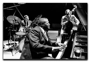 Jazz pianist Oscar Peterson Canvas Print or Poster - Canvas Art Rocks - 1