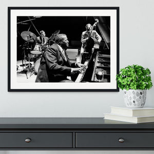 Jazz pianist Oscar Peterson Framed Print - Canvas Art Rocks - 1