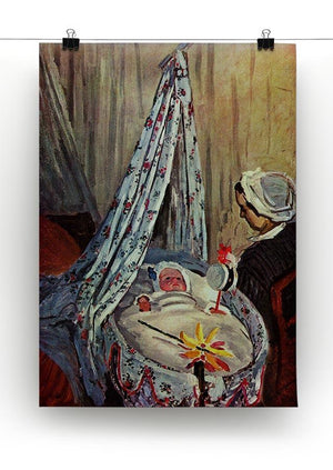Jean Monet in the cradle by Monet Canvas Print & Poster - Canvas Art Rocks - 2