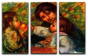 Jean Renoir and Gabrielle by Renoir 3 Split Panel Canvas Print - Canvas Art Rocks - 1