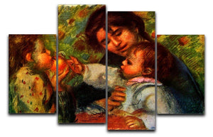 Jean Renoir and Gabrielle by Renoir 4 Split Panel Canvas  - Canvas Art Rocks - 1