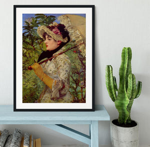 Jeanne by Manet Framed Print - Canvas Art Rocks - 1