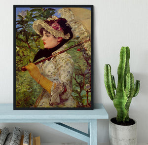 Jeanne by Manet Framed Print - Canvas Art Rocks - 2