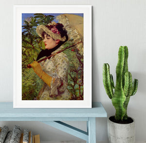 Jeanne by Manet Framed Print - Canvas Art Rocks - 5