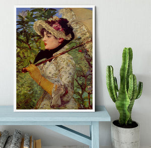 Jeanne by Manet Framed Print - Canvas Art Rocks -6