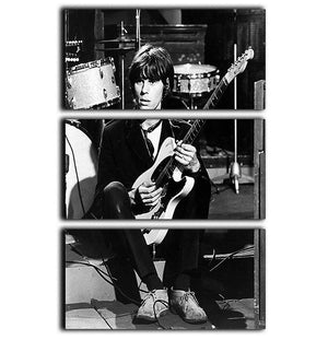 Jeff Beck in 1967 3 Split Panel Canvas Print - Canvas Art Rocks - 1