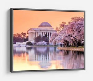 Jefferson Memorial during the Cherry Blossom Festival HD Metal Print