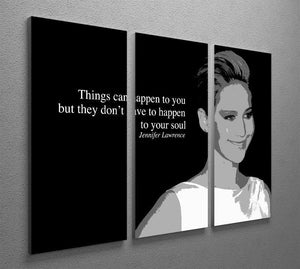 Jennifer Lawrence Happen To Your Soul 3 Split Panel Canvas Print - Canvas Art Rocks - 2
