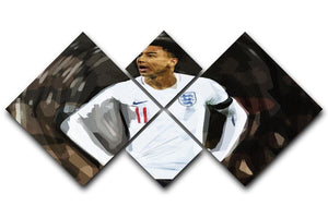 Jesse Lingard England 4 Square Multi Panel Canvas  - Canvas Art Rocks - 1