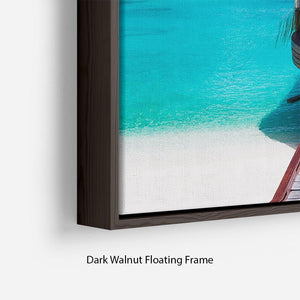 Jetty with amazing ocean Floating Frame Canvas - Canvas Art Rocks - 6