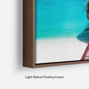 Jetty with amazing ocean Floating Frame Canvas - Canvas Art Rocks - 8