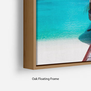 Jetty with amazing ocean Floating Frame Canvas - Canvas Art Rocks - 10