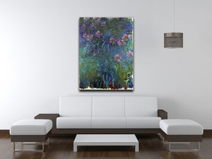 Jewelry lilies by Monet Canvas Print & Poster - Canvas Art Rocks - 4