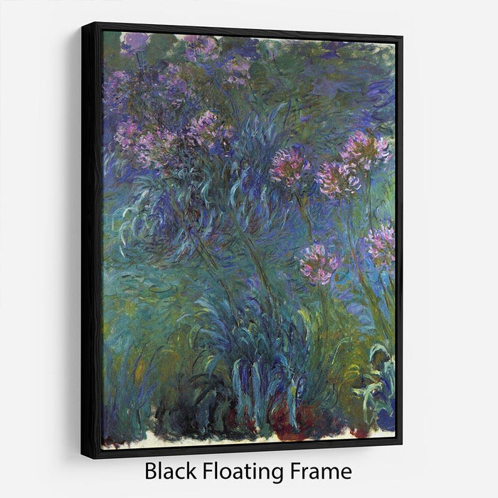 Jewelry lilies by Monet Floating Frame Canvas