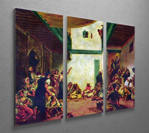 Jewish wedding after Delacroix by Renoir 3 Split Panel Canvas Print - Canvas Art Rocks - 2