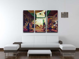 Jewish wedding after Delacroix by Renoir 3 Split Panel Canvas Print - Canvas Art Rocks - 3