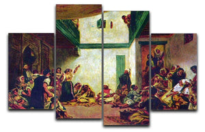 Jewish wedding after Delacroix by Renoir 4 Split Panel Canvas  - Canvas Art Rocks - 1