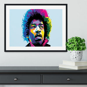 Jimi Hendrix Pop Art Framed Print - Canvas Art Rocks - 1