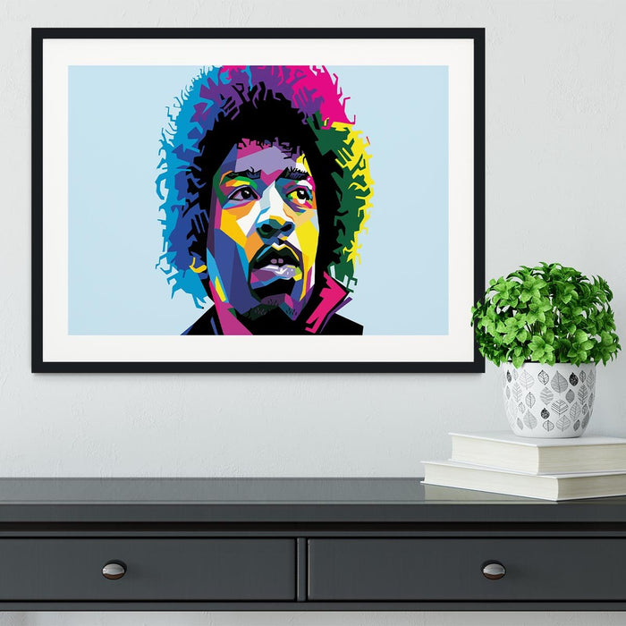 Jimi Hendrix Pop Art Framed Print