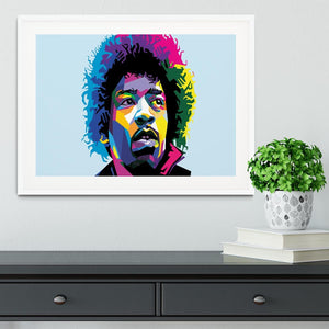Jimi Hendrix Pop Art Framed Print - Canvas Art Rocks - 5