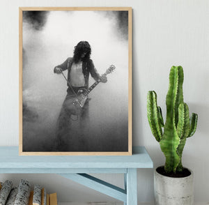 Jimmy Page on stage Framed Print - Canvas Art Rocks - 4