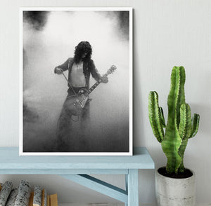 Jimmy Page on stage Framed Print - Canvas Art Rocks -6