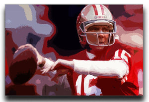 Joe Montana San Francisco Canvas Print - Canvas Art Rocks - 1