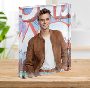 Joe Sugg Acrylic Block - Canvas Art Rocks - 2