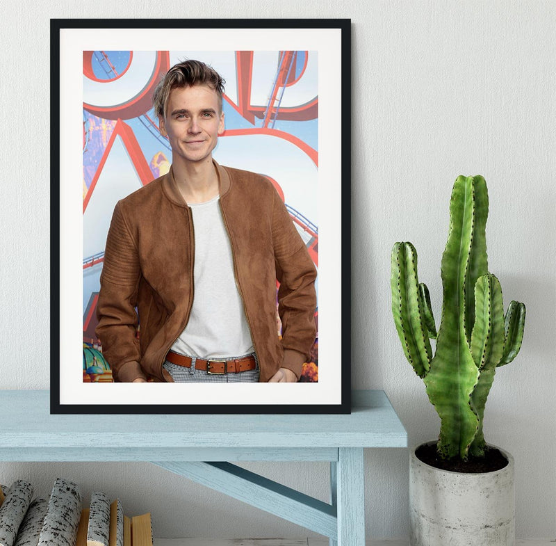 Joe Sugg Framed Print - Canvas Art Rocks - 1