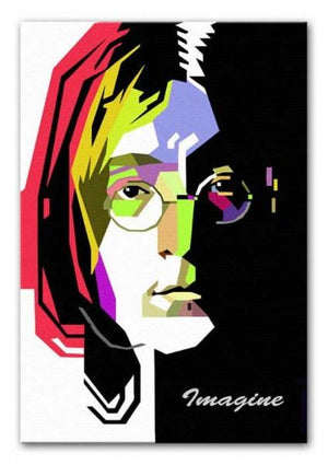 John Lennon Print - Canvas Art Rocks - 1