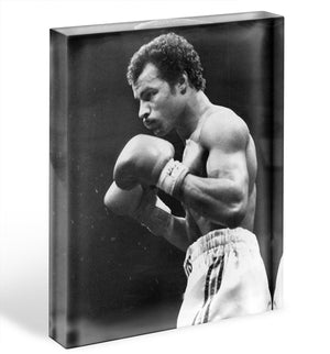 John Conteh boxer Acrylic Block - Canvas Art Rocks - 1