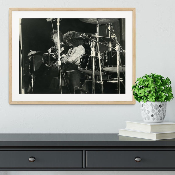 John Entwisle and Roger Daltrey at Tanglewood Music Shed Framed Print