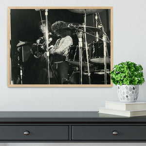 John Entwisle and Roger Daltrey at Tanglewood Music Shed Framed Print - Canvas Art Rocks - 4