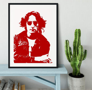 John Lennon Framed Print - Canvas Art Rocks - 1