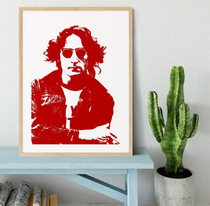 John Lennon Framed Print - Canvas Art Rocks - 3