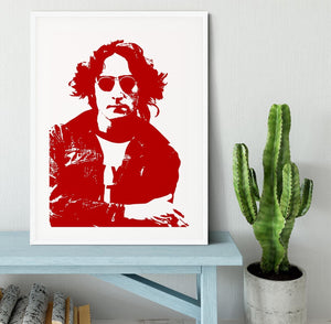 John Lennon Framed Print - Canvas Art Rocks - 5