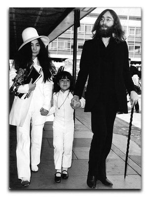 John Lennon Yoko Ono and her daughter Kyoko Canvas Print or Poster  - Canvas Art Rocks - 1