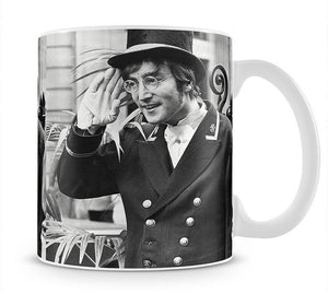 John Lennon dressed as a commissionaire Mug - Canvas Art Rocks - 1