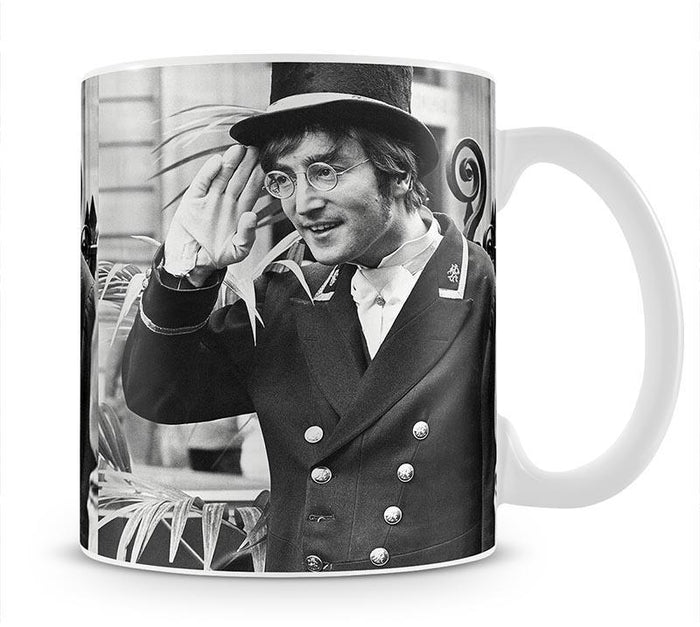 John Lennon dressed as a commissionaire Mug