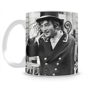 John Lennon dressed as a commissionaire Mug - Canvas Art Rocks - 2