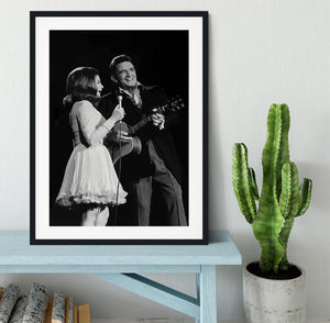 Johnny Cash Framed Print - Canvas Art Rocks - 1