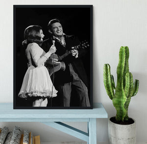 Johnny Cash Framed Print - Canvas Art Rocks - 2