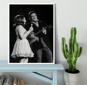 Johnny Cash Framed Print - Canvas Art Rocks -6